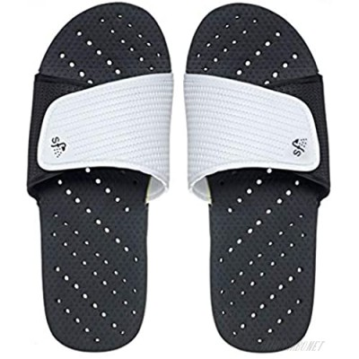 Showaflops Boys' Shower & Water Sandals for Pool Beach Camp and Gym - Classic Adjustable Colorblock Slide