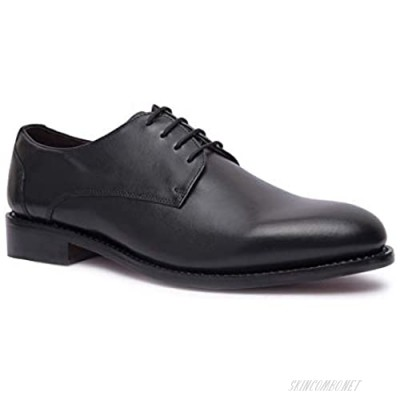 Allonsi | Genuine Leather Oxford Dress Shoes for Men| Goodyear Welted Shoes | Cap Toe Formal Shoes for Men | Wedding Shoes for Men | Leather Sole Mens Shoes | Handcrafted Luxury Leather Shoes