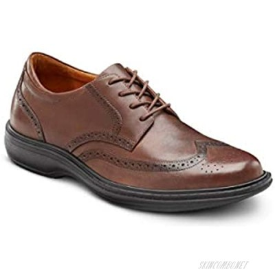 Dr. Comfort Wing Men's Therapeutic Diabetic Extra Depth Dress Shoe Leather Lace