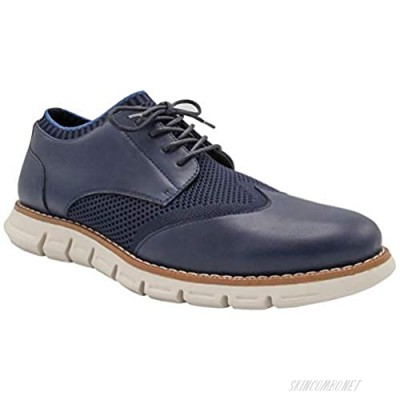 NINE WEST Mens Wingtip Shoes | Casual Dress Shoes for Men | Lightweight Lace Up Mens Oxford Shoes | Shoes for Men with Deep Grooves in Outsole That Mimics Natural Motion of The Foot| Keon