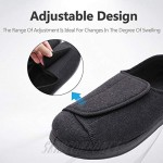 MEJORMEN Womens Diabetic Edema Slippers with Adjustable Closures Wide Width House Diabetes Strap Footwear Comfortable Orthopedic Shoes Easy On Off for Elderly Wide Swollen Feet Arthritis