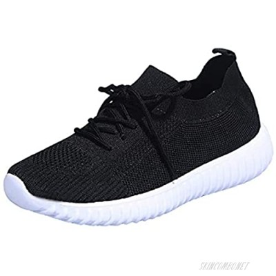 NLLSHGJ Walking Shoes for Women Fashion Women's Casual Shoes Breathable Lace-up Wedges Outdoor Leisure Sneakers