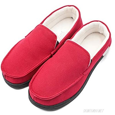 Mwfus Women's Comfy Moccasin Slippers with Memory Foam Breathable House Shoes Anti-Skid Indoor/Outdoor